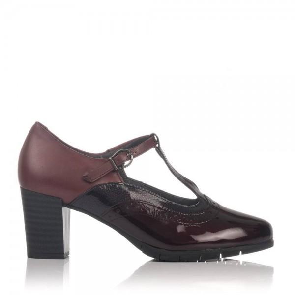 Zapato tira piel tacon alto Mujer Pitillos