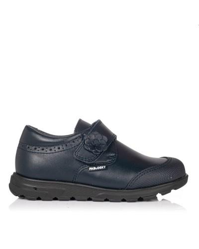 Zapato colegial flor piel Niñas Pablosky 334620