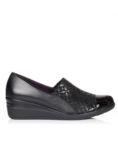 Zapato piel cuña Mujer Pitillos 5721