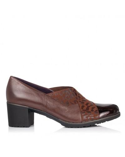 Zapato piel tacon medio Mujer Pitillos 5733