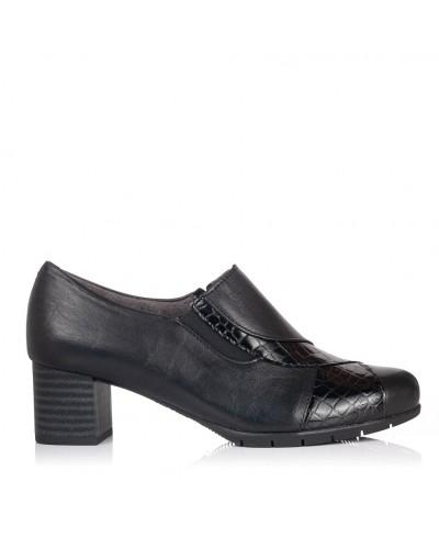 Zapato abotinado piel tacon Mujer Pitillos 5745