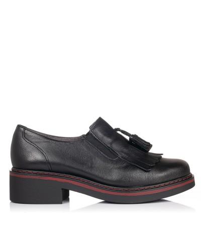 Zapato borlas piel Mujer Pitillos 5823