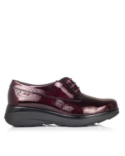 Zapato cordones charol Mujer Pitillos