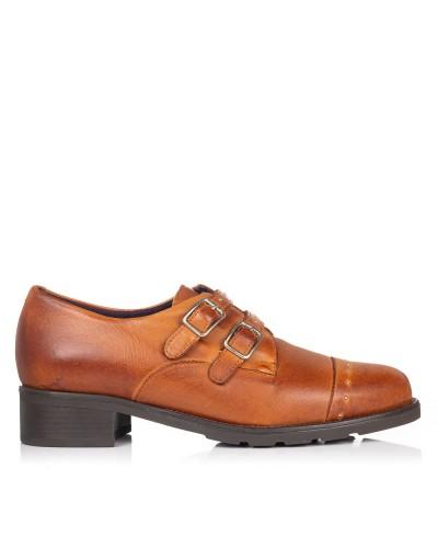 Zapato piel con hebillas Mujer Pitillos