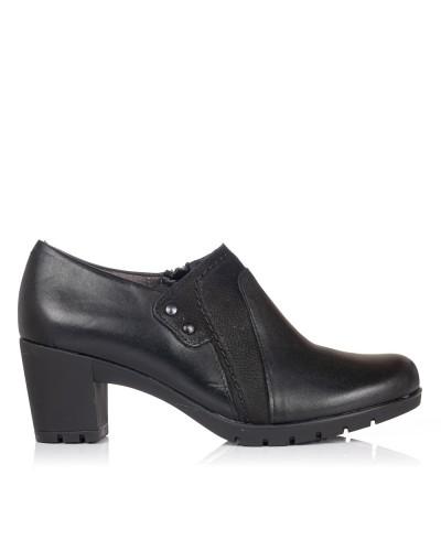 Zapato abotinado piel tacon Mujer Pitillos