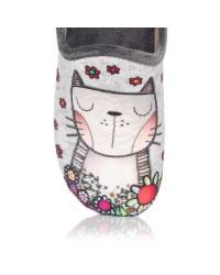 Zapatilla de casa gato Mujer Gomez 1071