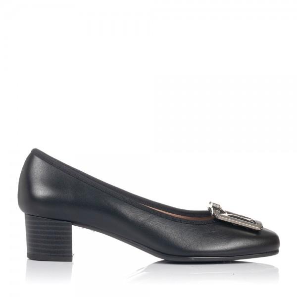 Zapato adorno piel tacon bajo Mujer Gomez 7153
