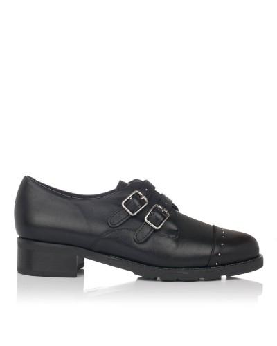 Zapato piel con hebillas Mujer Pitillos 5841