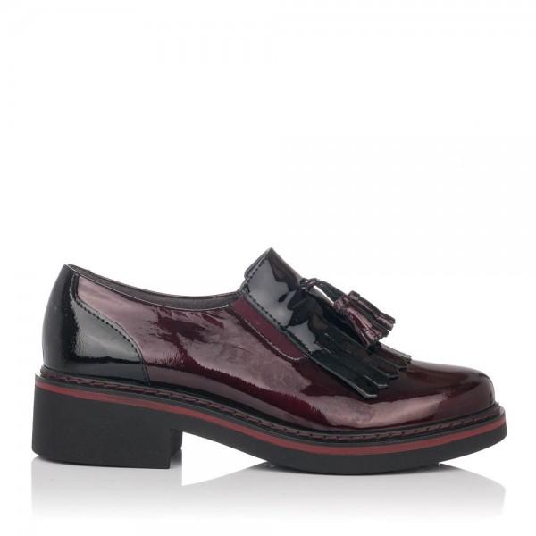 Zapato borlas charol Mujer Pitillos 5820