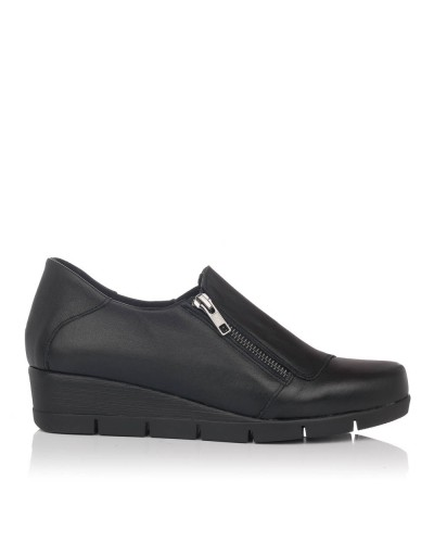 Zapato piel cuña Mujer Valeria´s 5504