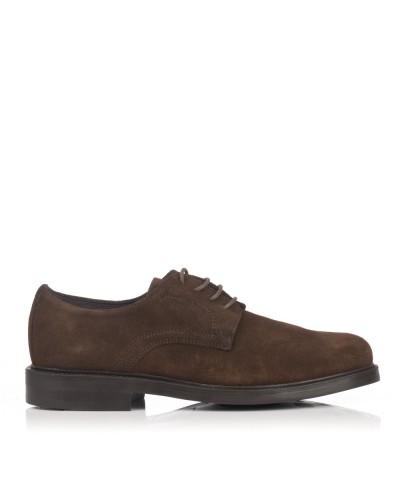 Zapato cordon ante Hombre Gomez 28095