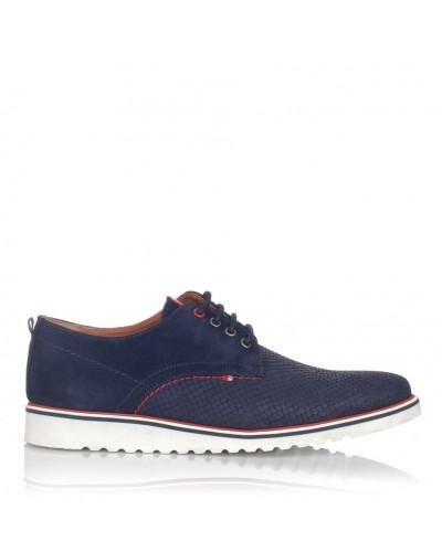 Zapato cordon ante Hombre Nautic blue 1800