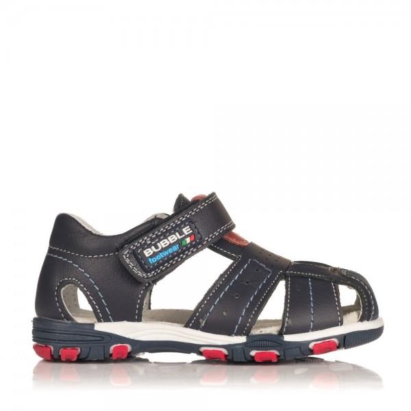 Sandalias de nino sport fabricadas en piel Plantilla interior en piel para evitar el exceso de suduracion Cierre de velcro pa