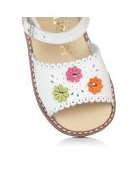 Sandalia flores piel Niñas Gomez 1364