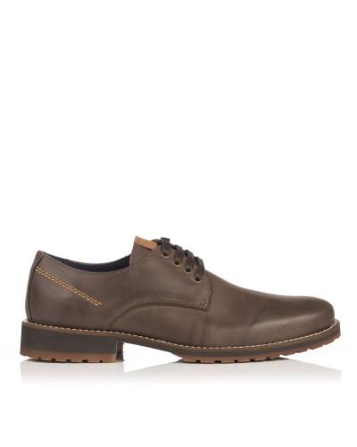 Zapato cordones piel Hombre Nautic blue 20186