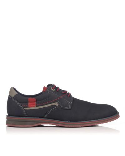 Zapato cordones nobuck Hombre Nautic blue 1802