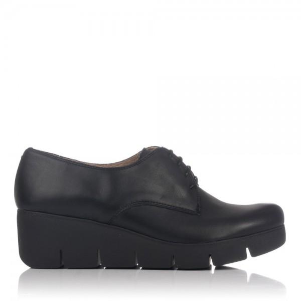 Zapato piel cordon plataforma Mujer Lince 80156