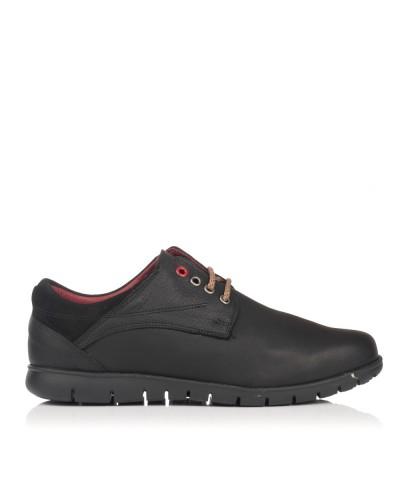 Zapato cordon piel piso goma Hombre Gomez 603