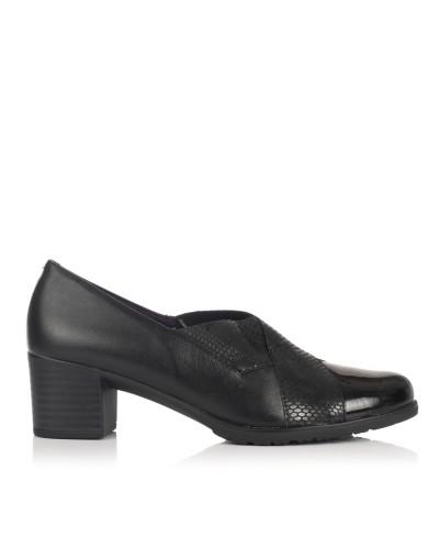 Zapato piel tacon medio Mujer Pitillos 5243