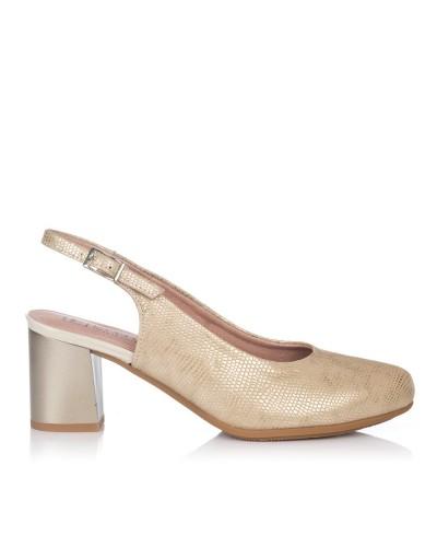Zapato talon abierto alto Mujer Pitillos 5550