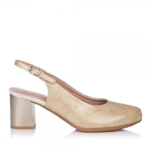 Zapato talon abierto alto Pitillos 5550