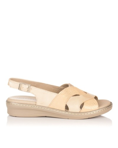 Sandalia piel confort Mujer Pitillos 5501
