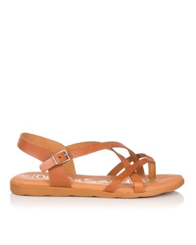 Sandalia piel dedo plana Mujer Oh my sandals 4301