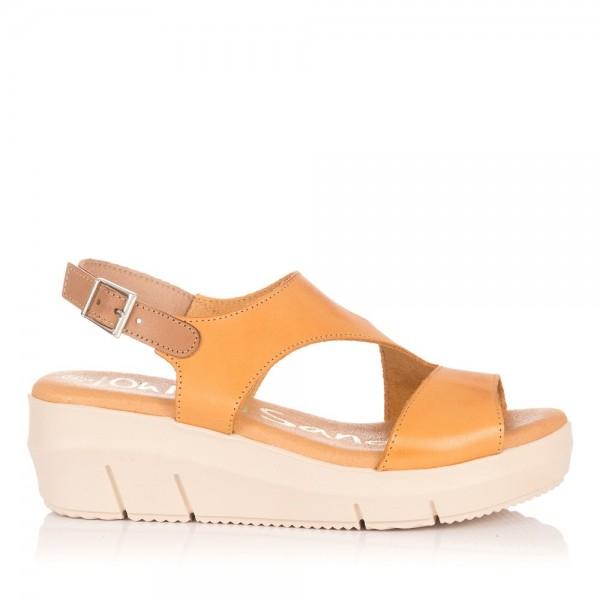 Sandalia piel cuña Mujer Oh my sandals 4346