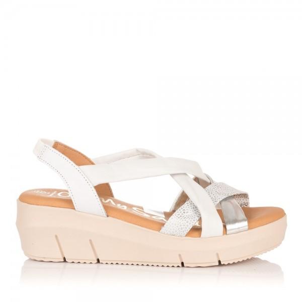 Sandalia tubulares piel cuña Mujer Oh my sandals 4342