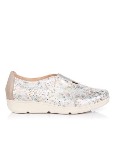 Zapato metalizado piel Mujer Baerchi 37454