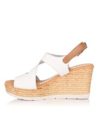 Sandalia piel cuña alta Mujer Oh my sandals 4373