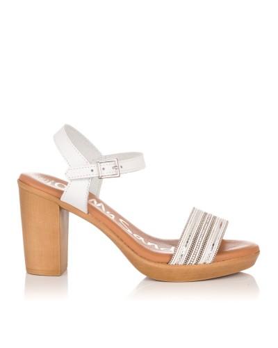 Sandalia tacon alto piel Oh my sandals 4382