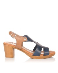 Sandalia piel tacon medio Oh my sandals 4355