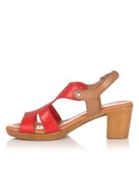 Sandalia piel tacon medio Mujer Oh my sandals 4355
