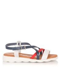 Sandalia piel combinada Oh my sandals 4409