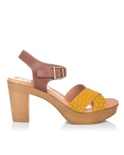 Sandalia piel plataforma Mujer Gomez 650