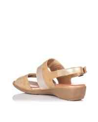 Sandalia confort velcros piel Mujer Gomez 586