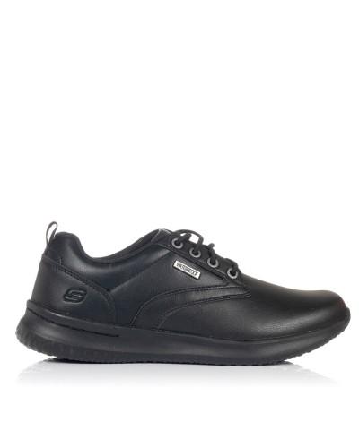 Zapato cordon delson antigo Hombre Skechers 65693 BBK