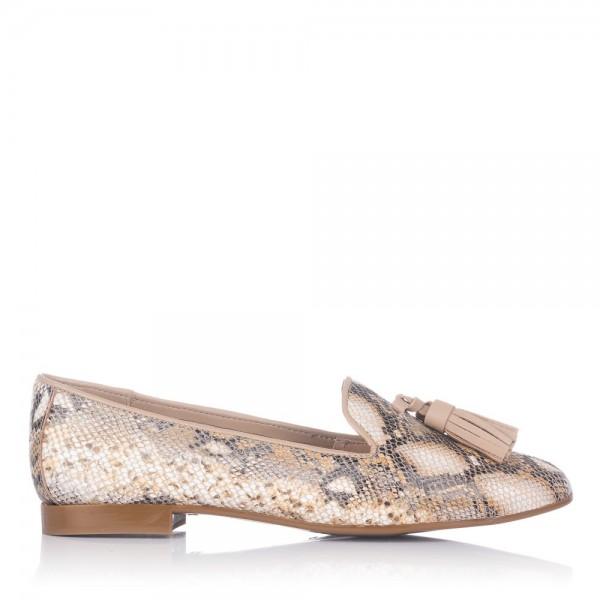 Zapato borlas piel reptil Mujer Maria jaen 48