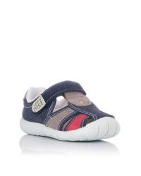 Sandalia lona combi Niños Zapy W701-12
