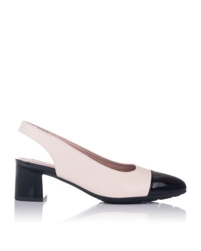Zapato talon abierto piel Mujer Pitillos 6152