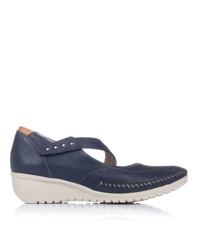 Zapato merceditas piel Mujer Fluchos 757