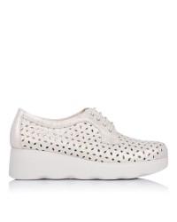 Zapato cordones calado Mujer Pitillos 6080