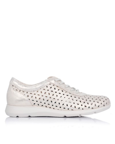 Zapato cordones calado piel Mujer Pitillos 6732