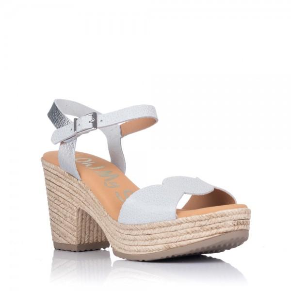 Sandalia piel plataforma Oh my sandals 4711