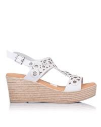 Sandalia calados piel cuña Oh my sandals 4705