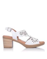 Sandalia calados piel tacon Oh my sandals 4689