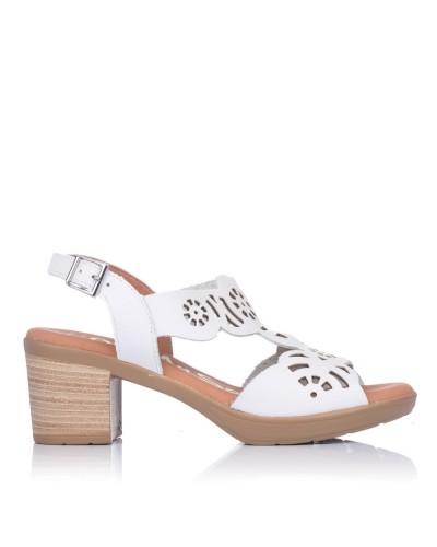 Sandalia calados piel tacon Mujer Oh my sandals 4689
