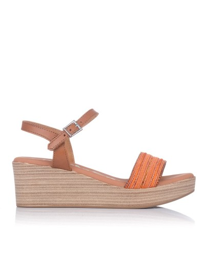 Sandalia fantasia cuña Mujer Oh my sandals 4686