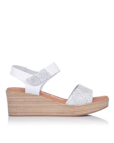 Sandalia velcro piel cuña Mujer Oh my sandals 4694